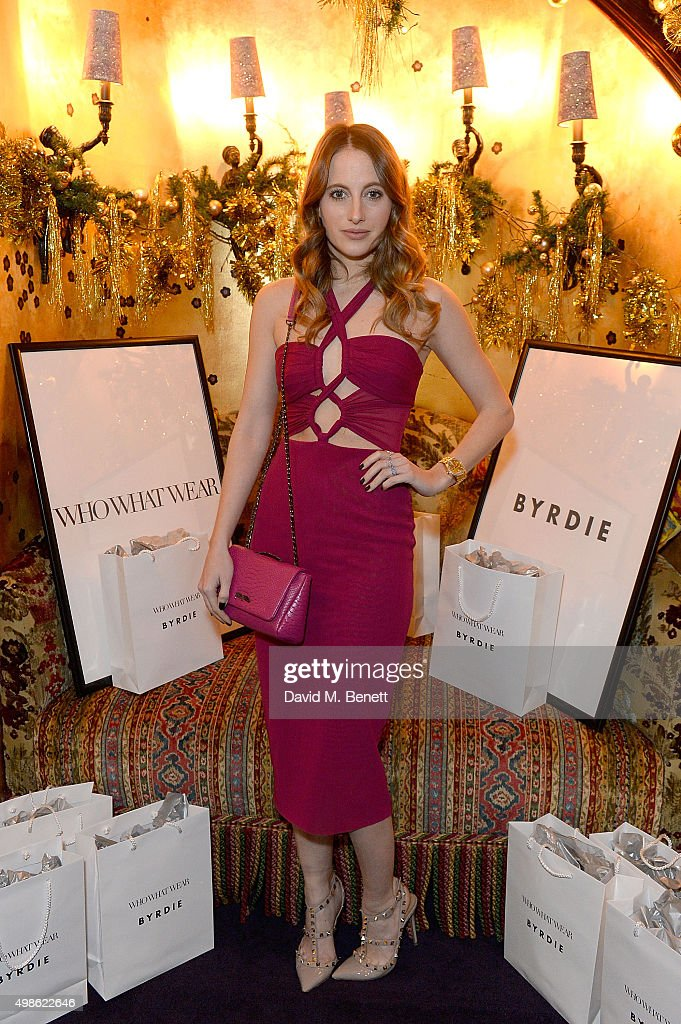 Rosie Fortescue attends the WhoWhatWear UK Launch at Loulou's on November 24, 2015 in London, England.