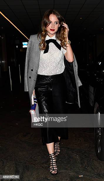 Rosie Fortescue attends Wonderland Magazine's 10th Anniversary Party at Drama night club in Mayfair on September 22 2015 in London England