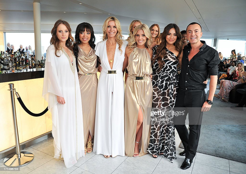 Rosie Fortescue, Dionne Bromfield, Melissa Odabash, Mollie King, Zara Martin and Julien Macdonald attend the launch party for the Obadash / Macdonald swimwear collaboration at ME Hotel on June 25, 2013 in London, England.