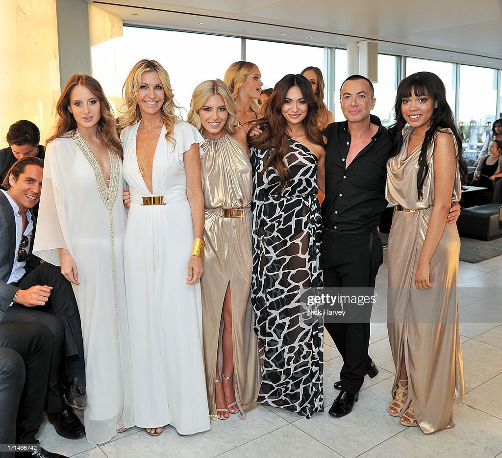 Rosie Fortescue, Melissa Odabash, Mollie King; Zara Martin, Julien Macdonald and Dionne Bromfield attend the launch party for the Obadash / Macdonald swimwear collaboration at ME Hotel on June 25, 2013 in London, England.