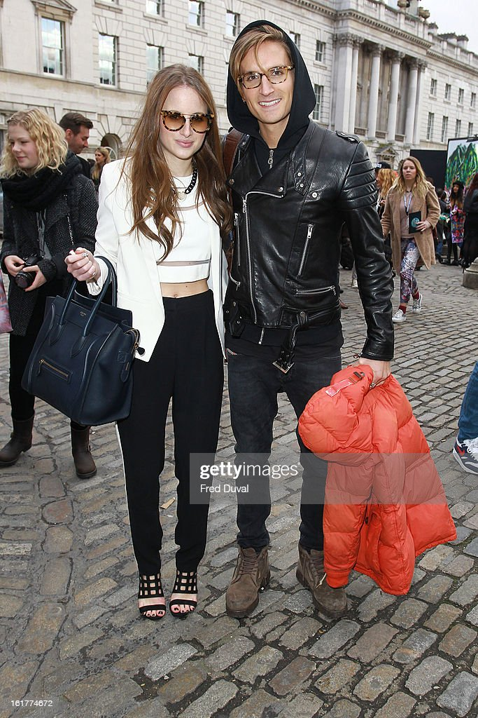 Rosie Fortescue (L) sighting on February 15, 2013 in London, England.