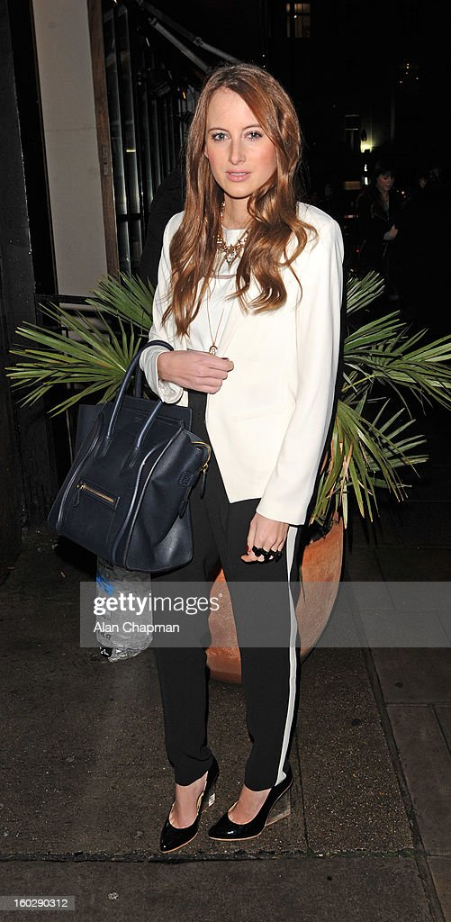 Rosie Fortescue sighting on January 27, 2013 in London, England.
