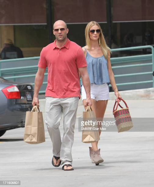 Rosie Huntington Whiteley and Jason Statham as seen on June 29 2013 in Los Angeles California