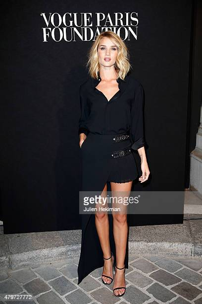 Rosie Huntington Whiteley attends the Vogue Paris Foundation Gala at Palais Galliera on July 6 2015 in Paris France