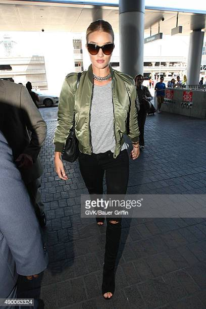 Rosie Huntington Whiteley is seen at LAX on September 25 2015 in Los Angeles California