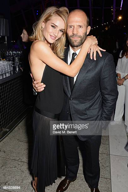 Rosie HuntingtonWhiteley and Jason Statham attend the Elle Style Awards 2015 at Sky Garden @ The Walkie Talkie Tower on February 24 2015 in London...