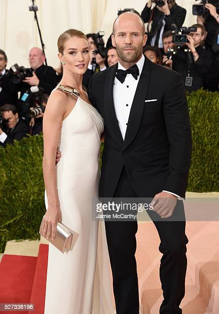 Rosie HuntingtonWhiteley and Jason Statham attend the 'Manus x Machina Fashion In An Age Of Technology' Costume Institute Gala at Metropolitan Museum...
