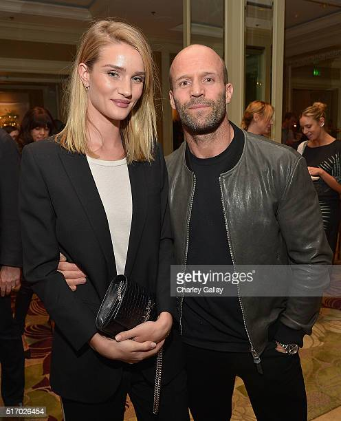 Rosie HuntingtonWhiteley and Jason Statham attend the 'Younger Skin Starts In The Gut' book launch party at Four Seasons Hotel Los Angeles at Beverly...