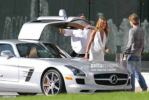 Rosie HuntingtonWhiteley and Michael Bay are seen on location for 'Transformers 3' on July 2 2010 in Los Angeles California