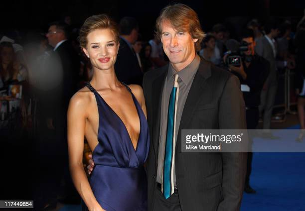 Rosie HuntingtonWhiteley and Michael Bay attend the UK premiere of 'Transformers Dark Of The Moon' at BFI IMAX on June 26 2011 in London England