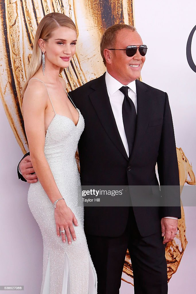 Rosie HuntingtonWhiteley and Michael Kors attend the 2016 CFDA Fashion Awards at the Hammerstein Ballroom on June 6 2016 in New York City