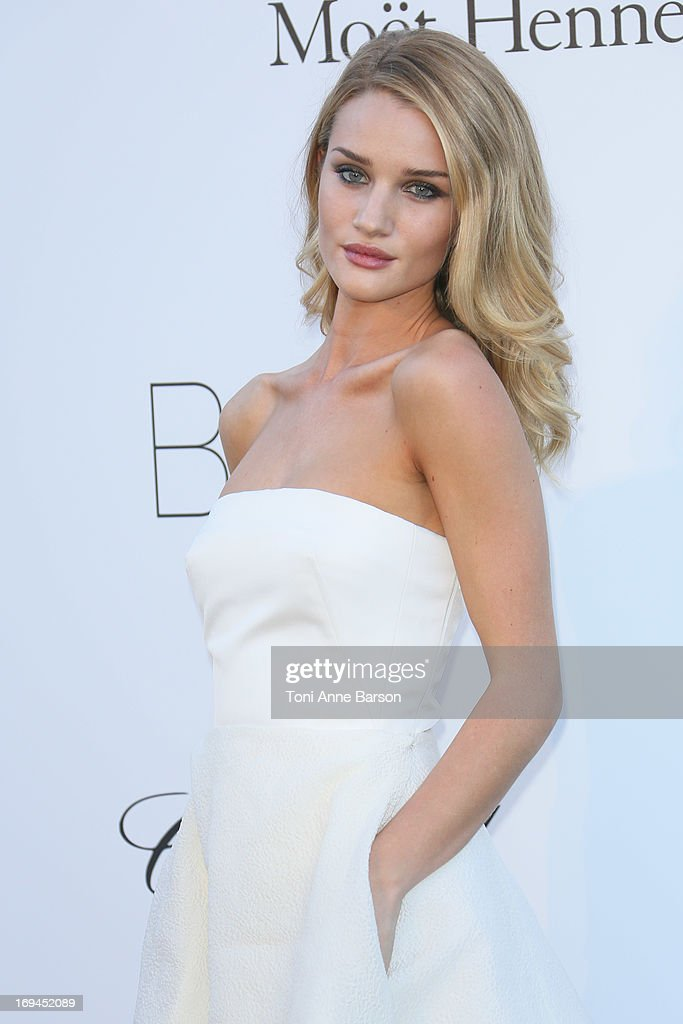 Rosie Huntington-Whiteley arrives at amfAR's 20th Annual Cinema Against AIDS at Hotel du Cap-Eden-Roc on May 23, 2013 in Cap d'Antibes, France.