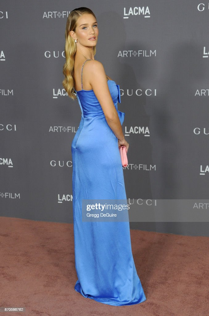 Rosie Huntington-Whiteley arrives at the 2017 LACMA Art + Film Gala honoring Mark Bradford and George Lucas at LACMA on November 4, 2017 in Los Angeles, California.