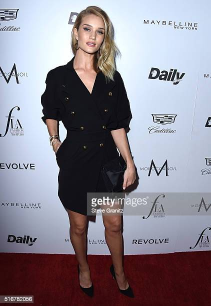 Rosie HuntingtonWhiteley arrives at the The Daily Front Row 'Fashion Los Angeles Awards' 2016 at Sunset Tower Hotel on March 20 2016 in West...