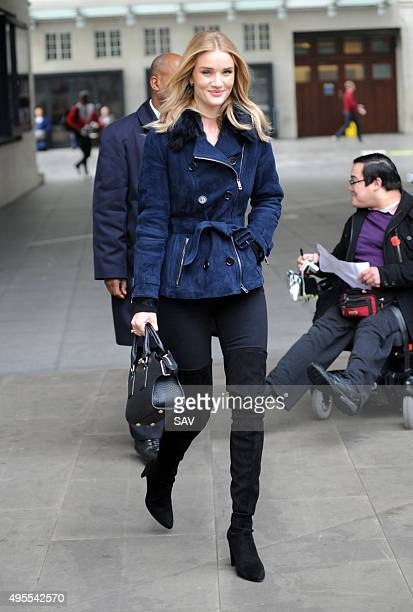 Rosie HuntingtonWhiteley at The BBC on November 3 2015 in London England