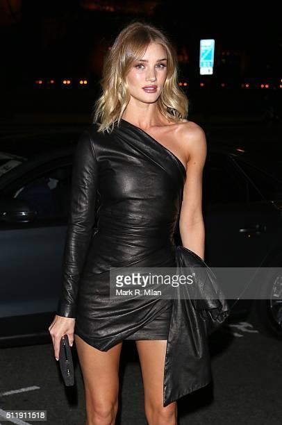 Rosie HuntingtonWhiteley attending the Elle Style awards on February 23 2016 in London England