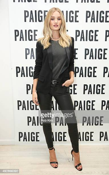 Rosie HuntingtonWhiteley attends PAIGE SoHo Event hosted by Rosie HuntingtonWhiteley And Paige AdamsGeller at PAIGE SOHO on October 15 2015 in New...