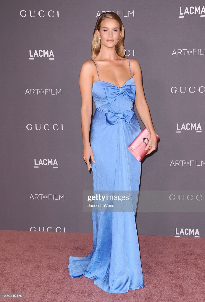 Rosie Huntington-Whiteley attends the 2017 LACMA Art + Film gala at LACMA on November 4, 2017 in Los Angeles, California.