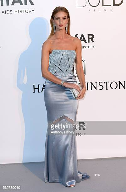 Rosie HuntingtonWhiteley attends the amfAR's 23rd Cinema Against AIDS Gala at Hotel du CapEdenRoc on May 19 2016 in Cap d'Antibes France