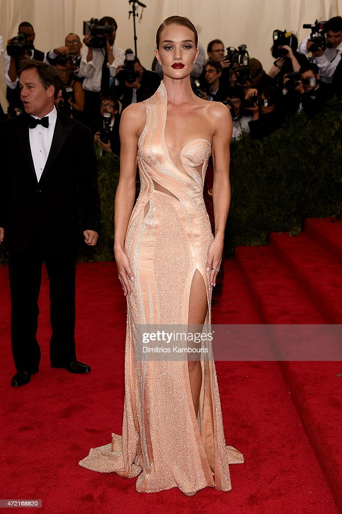 Rosie HuntingtonWhiteley attends the 'China Through The Looking Glass' Costume Institute Benefit Gala at the Metropolitan Museum of Art on May 4 2015...
