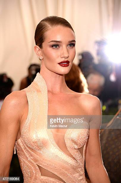 Rosie HuntingtonWhiteley attends the 'China Through The Looking Glass' Costume Institute Benefit Gala at Metropolitan Museum of Art on May 4 2015 in...