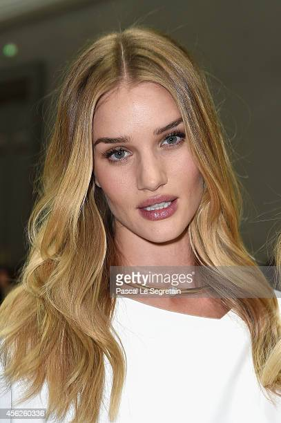 Rosie HuntingtonWhiteley attends the Chloe show as part of the Paris Fashion Week Womenswear Spring/Summer 2015 on September 28 2014 in Paris France
