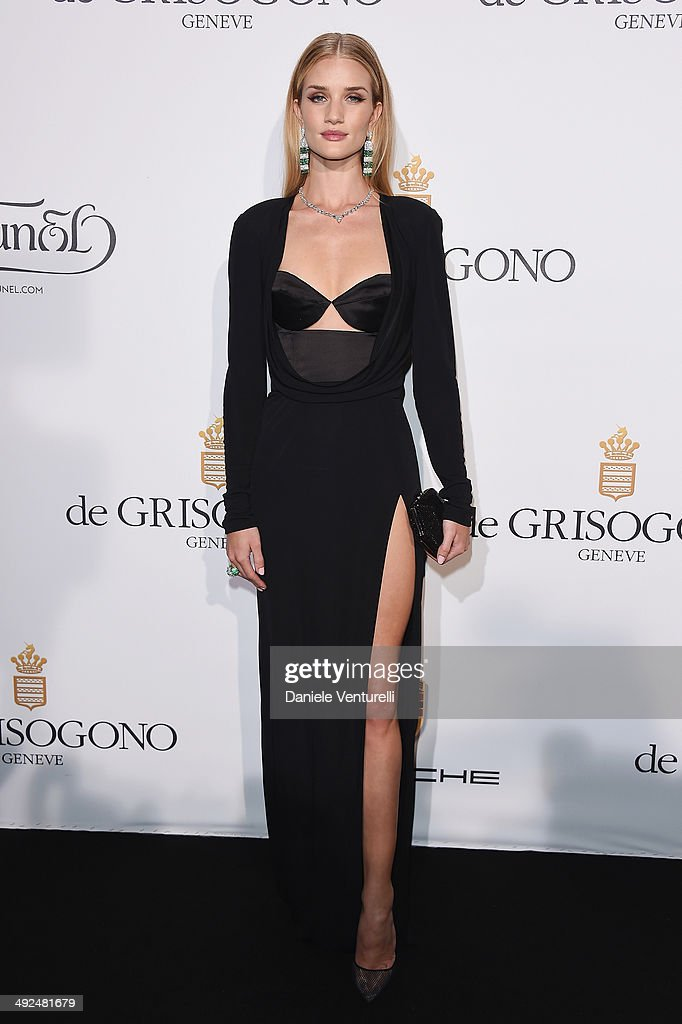 Rosie HuntingtonWhiteley attends the De Grisogono Party at the 67th Annual Cannes Film Festival on May 20 2014 in Cap d'Antibes France