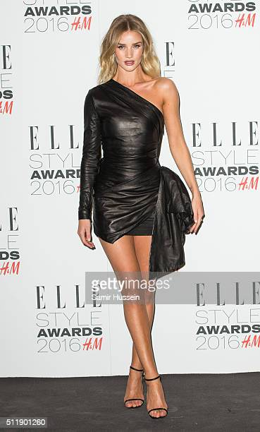 Rosie HuntingtonWhiteley attends The Elle Style Awards 2016 on February 23 2016 in London England