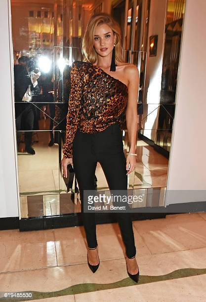 Rosie HuntingtonWhiteley attends the Harper's Bazaar Women of the Year Awards 2016 at Claridge's Hotel on October 31 2016 in London England