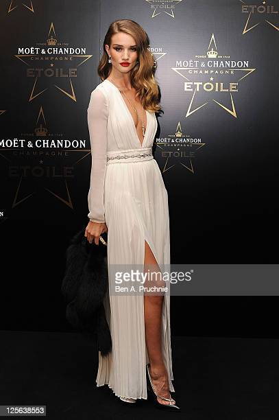 Rosie HuntingtonWhiteley attends the Moet Chandon Etoile award ceremony to honour Mario Testino for his contribution to cultural society at Park Lane...