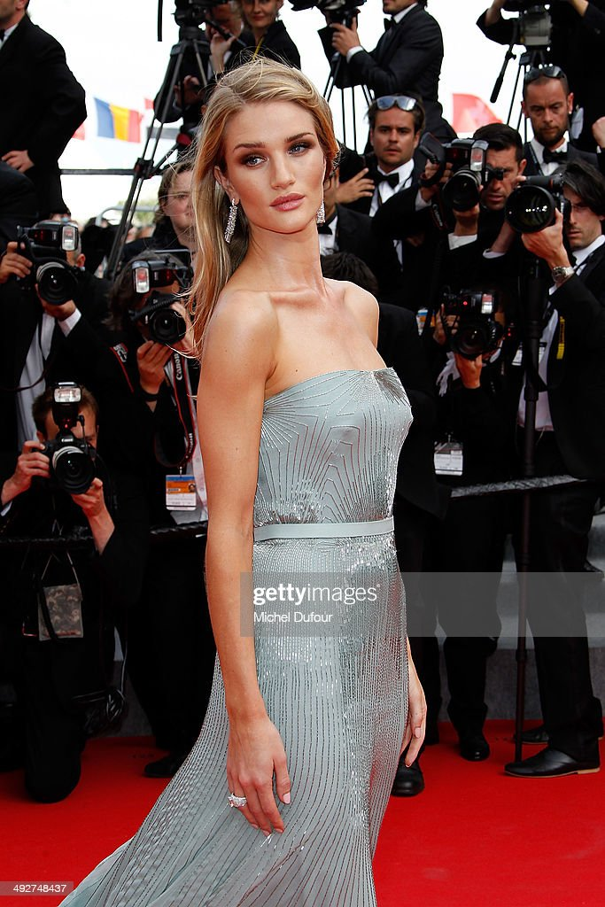 <a gi-track='captionPersonalityLinkClicked' href=/galleries/search?phrase=Rosie+Huntington-Whiteley&family=editorial&specificpeople=2244343 ng-click='$event.stopPropagation()'>Rosie Huntington-Whiteley</a> attends the Premiere of 'The Search' at the 67th Annual Cannes Film Festival on May 21, 2014 in Cannes, France.
