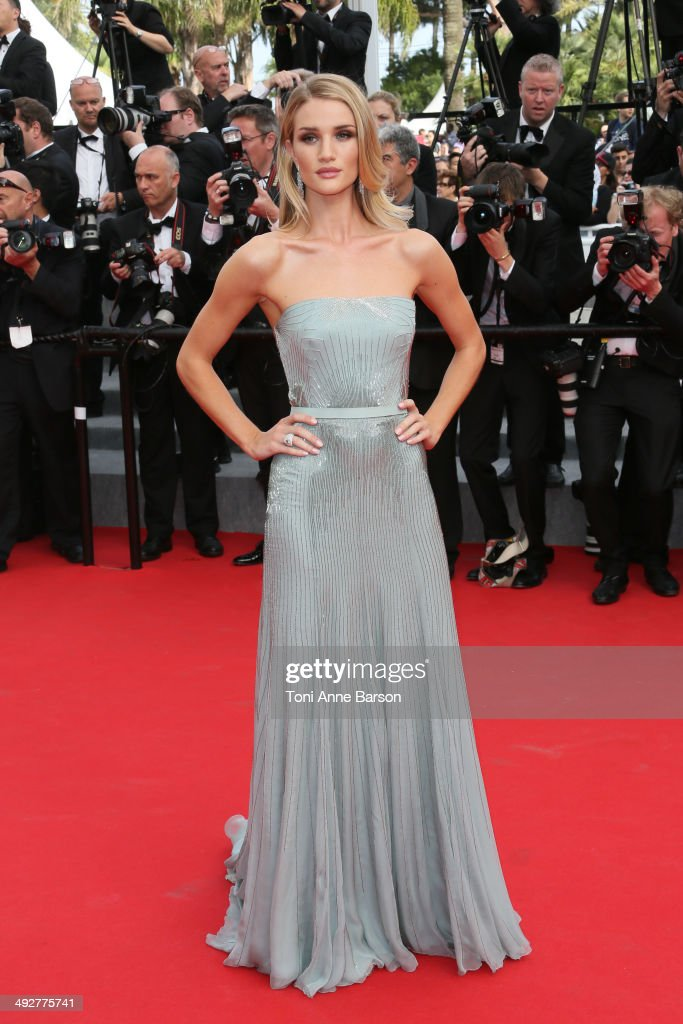 <a gi-track='captionPersonalityLinkClicked' href=/galleries/search?phrase=Rosie+Huntington-Whiteley&family=editorial&specificpeople=2244343 ng-click='$event.stopPropagation()'>Rosie Huntington-Whiteley</a> attends the 'The Search' Premiere at the 67th Annual Cannes Film Festival on May 21, 2014 in Cannes, France.