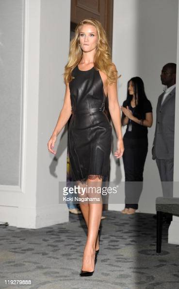 Rosie HuntingtonWhiteley attends the 'Transformers Dark of the Moon' press conference at the St Regis Hotel Osaka on July 16 2011 in Osaka Japan The...