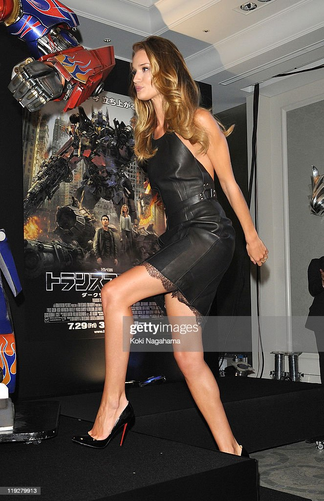 Rosie Huntington-Whiteley attends the 'Transformers: Dark of the Moon' press conference at the St. Regis Hotel Osaka on July 16, 2011 in Osaka, Japan. The film will open on July 29 in Japan.