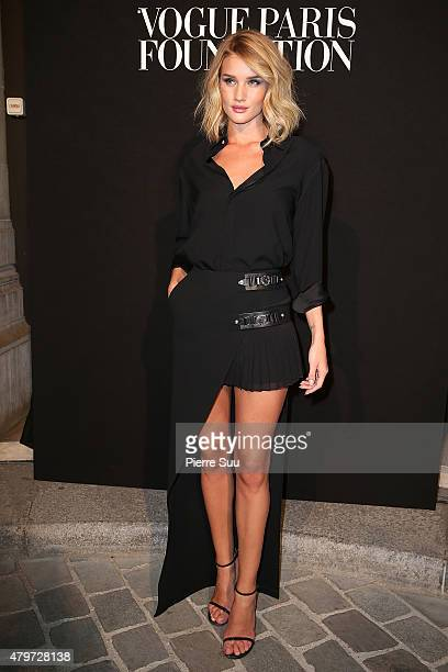 Rosie HuntingtonWhiteley attends the Vogue Paris Foundation Gala at Palais Galliera on July 6 2015 in Paris France