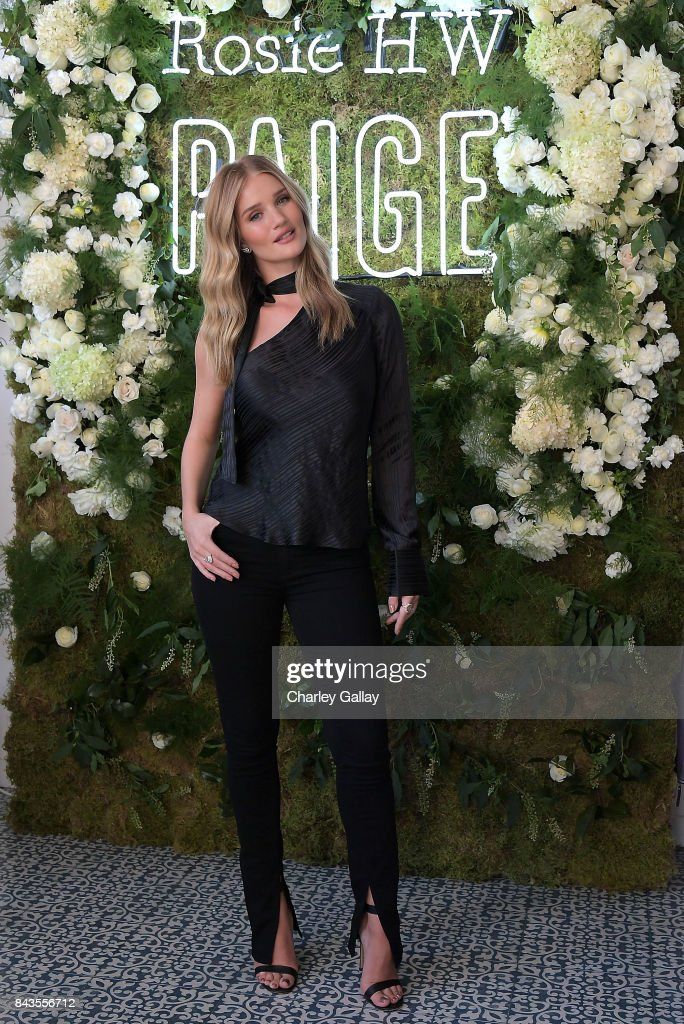 Rosie Huntington-Whiteley celebrates the launch of the Rosie HW x PAIGE Fall Collection at the PAIGE Brentwood Store on September 6, 2017 in Los Angeles, California.