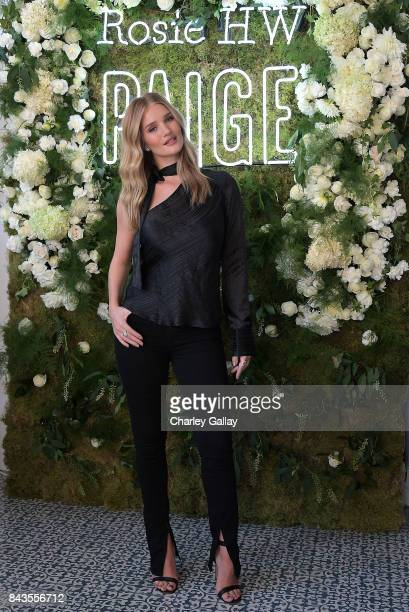 Rosie HuntingtonWhiteley celebrates the launch of the Rosie HW x PAIGE Fall Collection at the PAIGE Brentwood Store on September 6 2017 in Los...