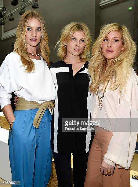 Rosie HuntingtonWhiteley Clemence Poesy and Ellie Goulding attend the Chloe show as part of the Paris Fashion Week Womenswear Spring/Summer 2015 on...