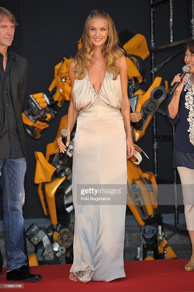 Rosie Huntington-Whiteley during the 'Transformers: Dark of the Moon' stage greeting at Osaka Station City Cinema on July 16, 2011 in Osaka, Japan. The film will open on July 29 in Japan.