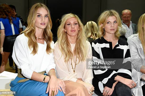 Rosie HuntingtonWhiteley Ellie Goulding and Clemence Poesy attend the Chloe show as part of the Paris Fashion Week Womenswear Spring/Summer 2015 on...