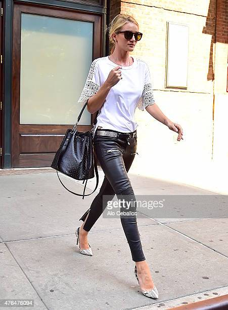 Rosie HuntingtonWhiteley is seen in Tribeca on June 9 2015 in New York City