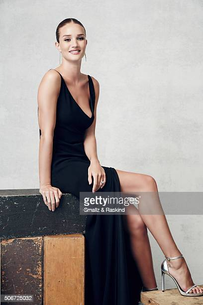 Rosie HuntingtonWhiteley poses for a portrait during the 21st Annual Critics' Choice Awards at Barker Hangar on January 17 2016 in Santa Monica...