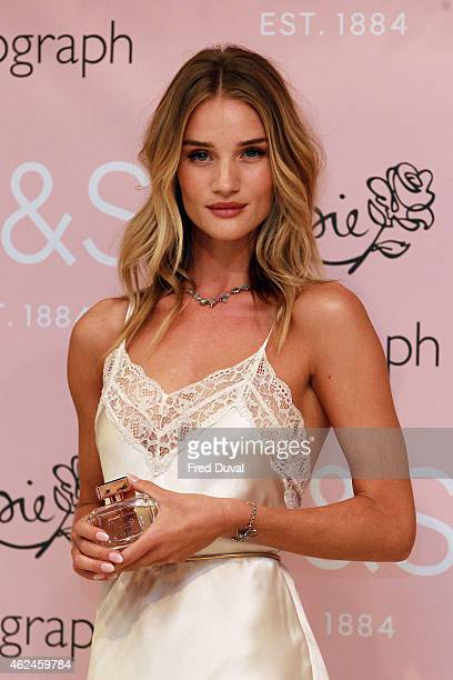 Rosie HuntingtonWhiteley Rosie HuntingtonWhiteley attends a photocall to launch her new fragrance 'Rosie for Autograph' for MS at Marks Spencer...