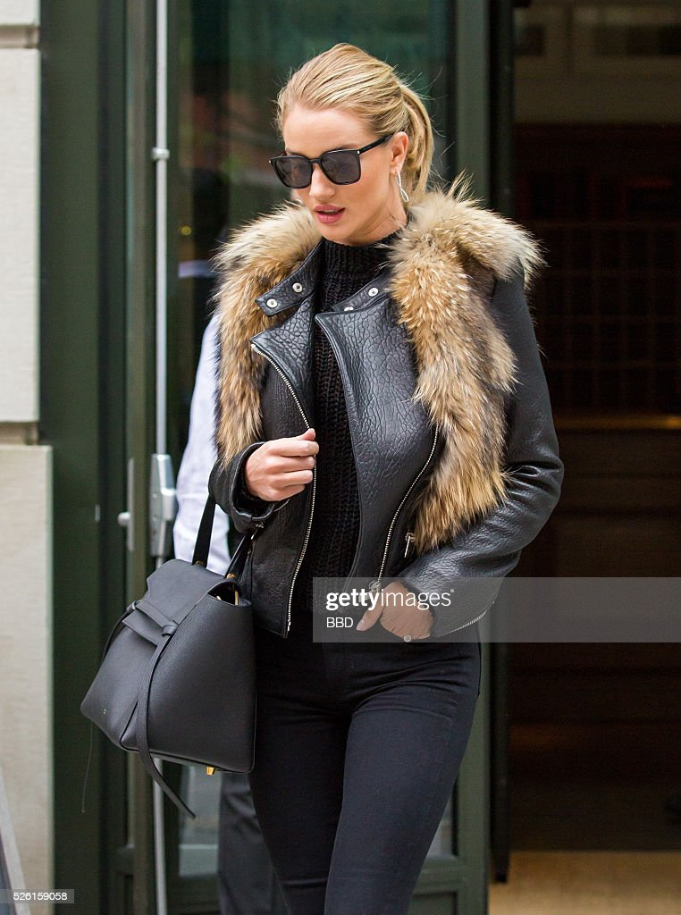 <a gi-track='captionPersonalityLinkClicked' href=/galleries/search?phrase=Rosie+Huntington-Whiteley&family=editorial&specificpeople=2244343 ng-click='$event.stopPropagation()'>Rosie Huntington-Whiteley</a> seen leaving her hotel in Soho on April 29, 2016 in New York City.
