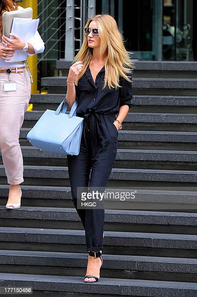 Rosie HuntingtonWhiteley visits Marks and Spencer Head Office in Paddington on August 21 2013 in London England