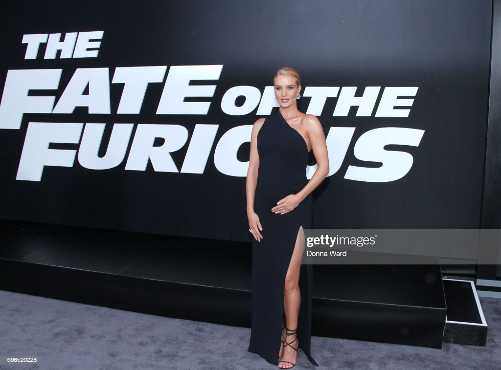 Rosie Huntington-Whitely attends 'The Fate of The Furious' New York Premiere at Radio City Music Hall on April 8, 2017 in New York City.