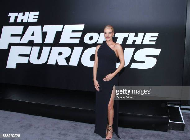 Rosie HuntingtonWhitely attends 'The Fate of The Furious' New York Premiere at Radio City Music Hall on April 8 2017 in New York City
