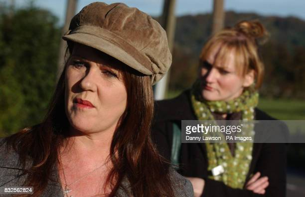 Rosie Kane talks to the press after leaving Cornton Vale women's prison in Stirling with SSP MSP Carolyn Leckie in the background Kane was sentenced...