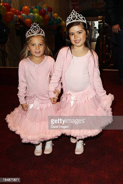 Rosie McClelland and Sophia Grace Browlee attend a special screening of Alvin And The Chipmunks Chipwrecked at The Empire Leicester Square on...