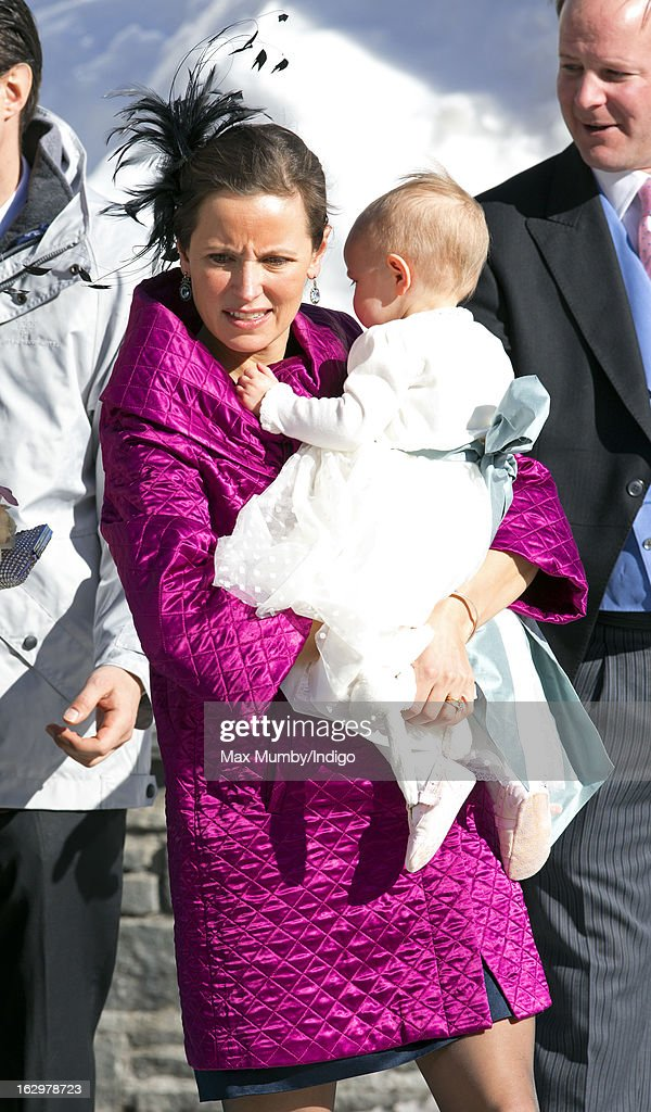 Rosie Meade attends the wedding of Laura Bechtolsheimer and Mark Tomlinson at the Protestant Church on March 2, 2013 in Arosa, Switzerland.